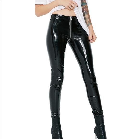 260cdc0b31a379 Rubber latex full zip leggings. M_5adb5f6a85e605c7e699dac8